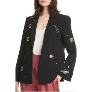 Cinq a Sept NWT Astro Rumi Embroidered Blazer Sz 4